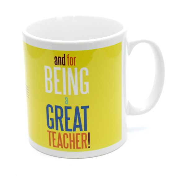 Best Teacher & Thank You Mug - Music Mug | musical gifts online