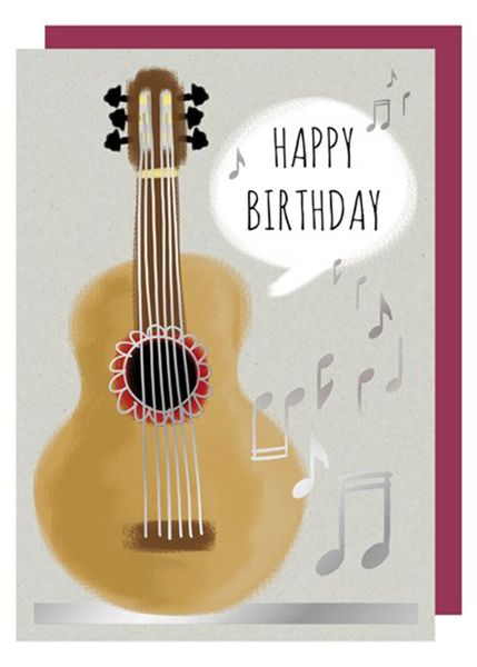 Acoustic Guitar Birthday Card By Quire
