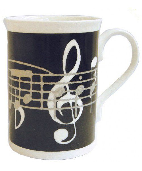 Black Music Notes Mug - Music Gift | musical gifts online