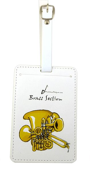 Brass Section Luggage Label by MD