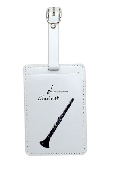 Clarinet Luggage Label - Music Gift - Clarinet Gift | musical gifts online