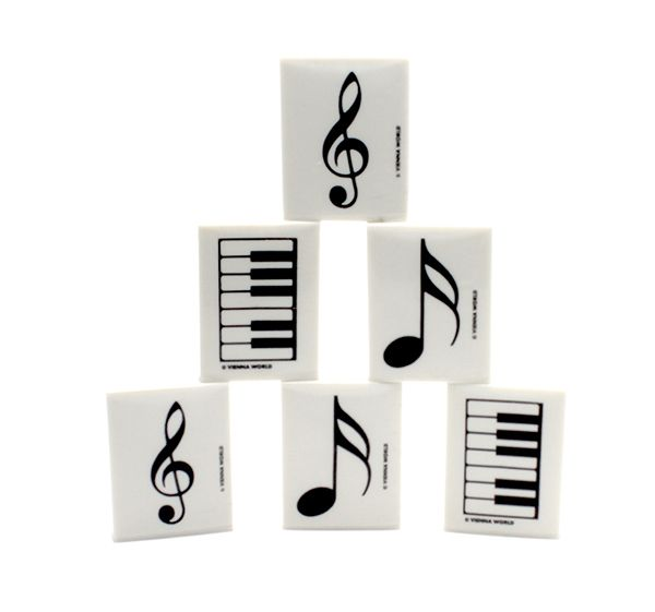 Assorted Music Designed Eraser - Music Stationery | musical gifts online
