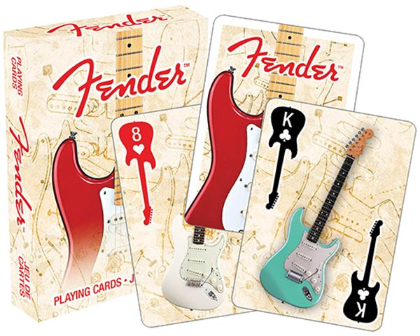 Fender Guitar Playing Cards - Music Playing Cards | musical gifts online