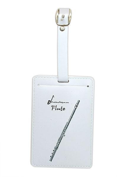 Flute Luggage Label - Music Gift - Flautist Gift | musical gifts online