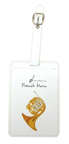 French Horn Luggage Label by MD