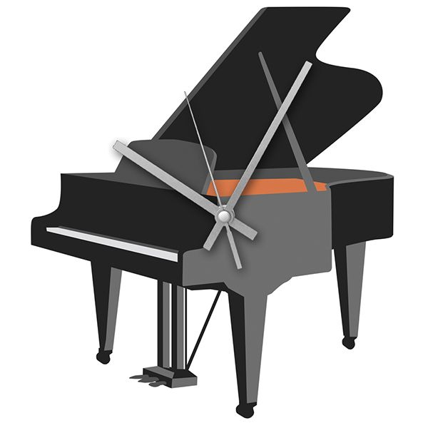 Grand Piano Wall Clock - Music Clock | musical gifts online