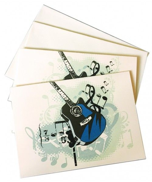 Music Notelets - Guitar Gift - Music Stationery | musical gifts online
