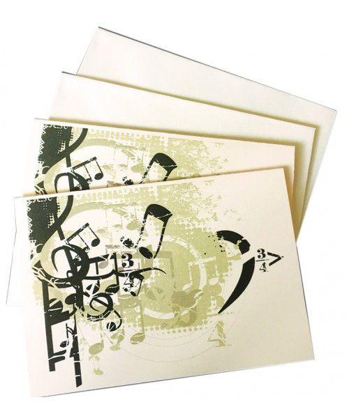 Music Notelets - Music Notes & Symbols - Music Stationery | musical gifts online