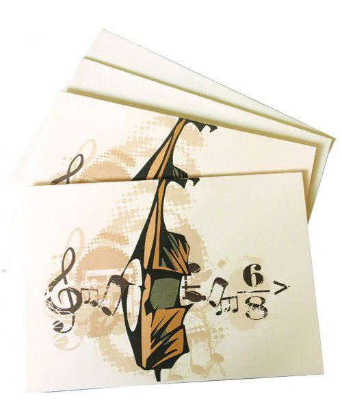 Music Notelets - Strings Gift - Music Stationery | musical gifts online