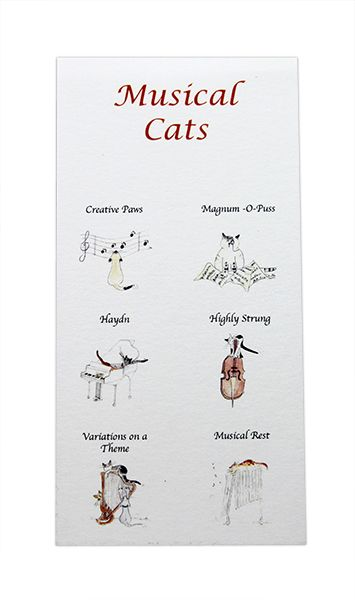 Notepad - Musical Cats by Colcards