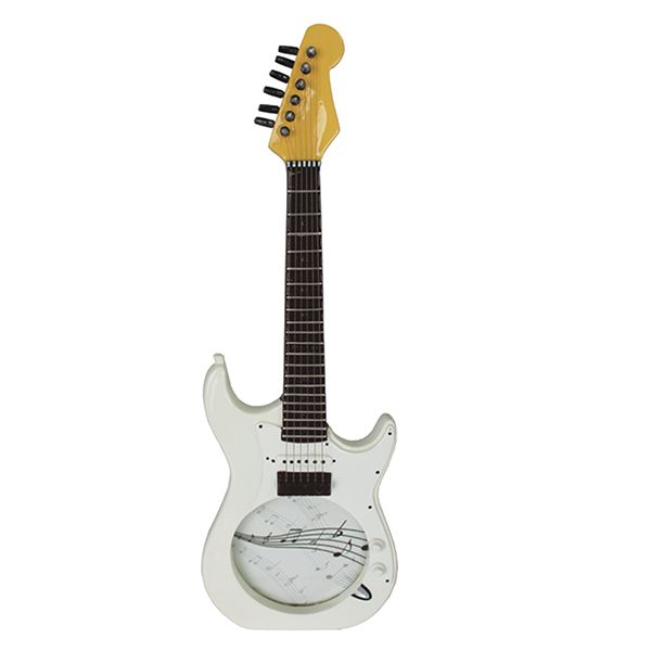 White Electric Guitar Photo Frame - Music Gift | musical gifts online