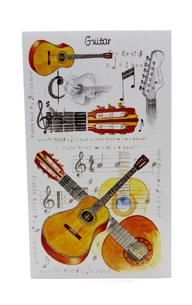 Acoustic Guitar Notebook - Music Stationery | musical gifts online