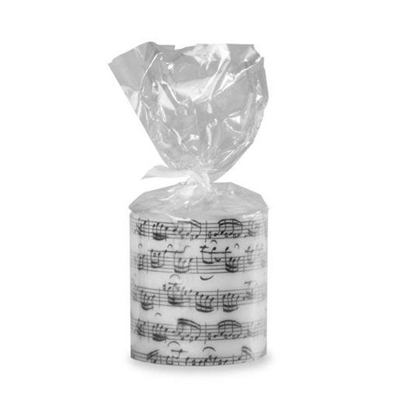 Sheet Music Round Candle - Music Candle | musical gifts online
