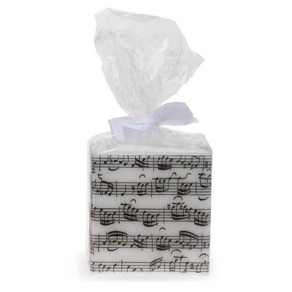 Sheet Music Square Candle - Music Candle | musical gifts online
