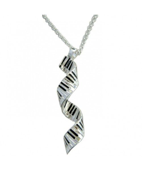 Silver plated spiral keyboard music necklace musical gifts online aloadofball Choice Image