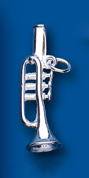 Trumpet Sterling Silver Charm