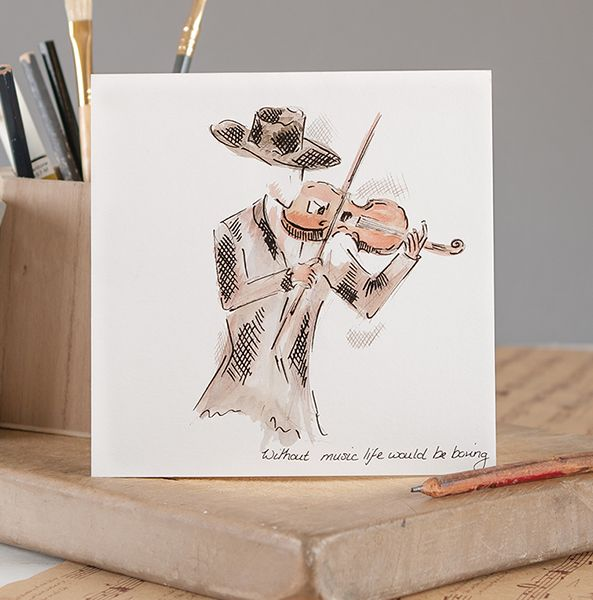 Without Music Life Would Be Boring - Music  Greetings Card | musical gifts online